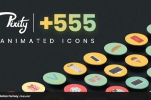 PR预设-555个扁平化ICON图标MG动画 Pixity Animated Icons for Premiere Pro