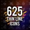 AE模板:625个线条风格类Icons图标动画625 Thin Line Icons