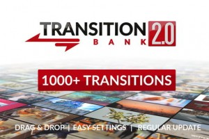 AE模板-1000+图形遮罩视差信号损坏光效笔刷水墨手绘视频转场 Transition Bank 2.0
