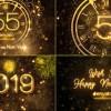 AE模板:金色华丽粒子2019新年倒计时片头New Year Countdown 2019