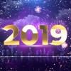AE模板:豪华金色绚丽粒子时钟2019新年倒计时片头 New Year Countdown