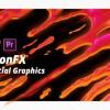 Premiere预设:59组火焰烟雾水流爆炸能量电流MG动画卡通元素PR模板
