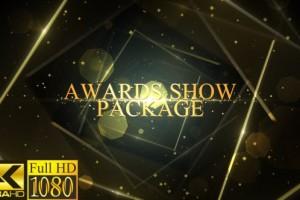 AE模板-高贵奢华漂亮金色粒子公司企业年会活动颁奖典礼片头 Awards Show Pack