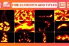AE模板-卡通动漫MG火焰元素动画