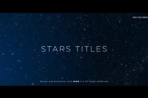 AE模板-大气漂亮粒子背景飘动文字标题宣传片头(含音乐) Stars Titles