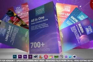 AE+PR模板-700组视频调色光效转场预设 700 Video Creation Suite V2 – Transition