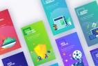 AE模板-扁平化网络购物概念INS竖屏宣传MG动画片头 Instagram Marketing Stories
