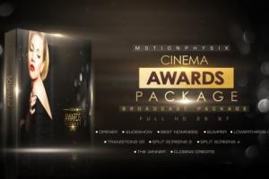 AE模板-闪耀粒子影视颁奖典礼栏目包装开场片头 Cinema Awards Package