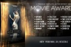 AE模板-金色粒子线条背景晚会活动影视颁奖典礼栏目包装片头 Movie Awards Bundle