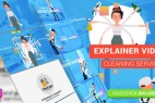 AE模板-扁平化家政保洁服务行业卡通人物MG动画 Cleaning Services