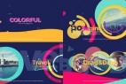 AE模板-时尚流行彩色图形栏目包装图文展示片头 Colorful Opener