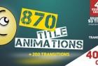 AE模板-870个流行时尚商务创意文字标题排版设计动画 870 Title Animations