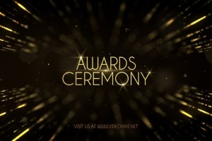 AE模板-金色粒子公司企业年会活动颁奖典礼开场片头 Awards Show Pack