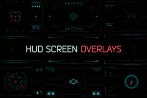AE模板-科技感画面HUD窗口扫描界面 HUD Screen Overlays