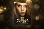 AE模板-大气金色光斑粒子漂亮女性美容整容机构年会活动颁奖典礼栏目包装片头 Women Awards Package 2