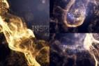 AE模板-大气粒子流动背景颁奖典礼仪式文字标题宣传片头开场