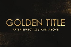 AE模板-金色华丽闪耀粉尘粒子文字标题开场片头 Golden & Silver Titles