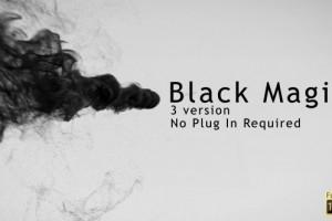AE模板:中国风水墨粒子汇聚 VideoHie Black Magic