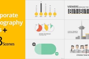 AE模板-商务类公司介绍宣传图表动画 videohive Corporate Typography Plus