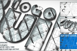 AE模板-3D 文字Logo搭建 VideoHive Logo Build V2
