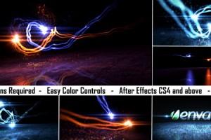 AE模板-漂亮粒子光线 VideoHive Logo Light Reveal 2