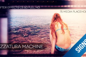 AE模板:复古胶片展示 VideoHive Sprezzatura Machine Photo Gallery Pack