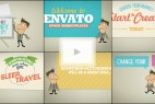 AE模板:卡通人物介绍公司商品 VideoHive Promote Company Service Site