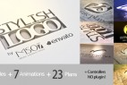 AE模板-8组时尚三维立体镂空Logo文字片头演绎动画