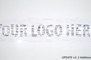 AE模版-众多粒子文字汇聚LOGO效果 VideoHive – Buzzwords Logo Reveal II
