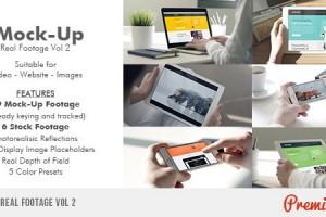 【第二季】AE模版-手机平板真实触摸屏幕动画效果 VideoHive iMock-Up Real Footage Vol 2