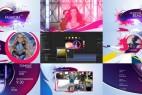 AE模版:绚丽时尚广播电视栏目包装 Retro Fashion Package