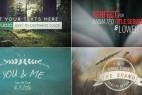 AE模版:70组简洁时尚文字排版动画效果 70 titles animation pack