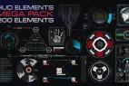 AE模版:200组HUD高科技信息化动态UI元素包 HUD Elements Mega Pack