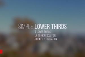 AE模版:动态简洁文字标题字幕条 Simple Lower Thirds 12034789