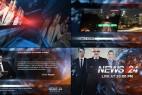 AE模版:《新闻24小时》栏目包装片头 Broadcast Design - News 24 Package