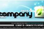 AE模板 E3D制作影视3D标题片头 Element 3D - Cinematic Titles Opener