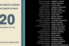 AE模版:4K分辨率-20种影视片尾滚动字幕展示 20 Cinema Film Credits Pack