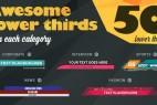 AE模版:50组简洁时尚栏目包装字幕条动画 Lower Third