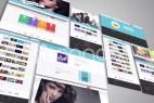 AE模版:企业网站个人博客网页功能动态展示