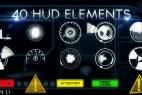 AE模版:40组HUD现代高科技信息化动态UI元素包 Hud Elements 40 3985534