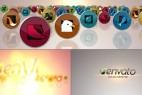 AE模版:群组多图标元素LOGO片头 Media Icons Logo