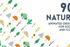 AE模板:90组MG大自然植物卡通动画元素包
