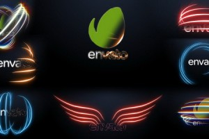 AE模板:能量发光线条LOGO标志展示片头 Energy Light Logo