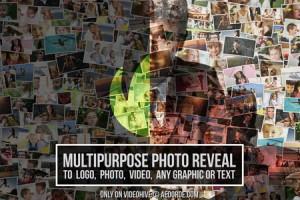 AE模板:众多图片汇聚 LOGO 标志动画效果 Multipurpose Photo Reveal