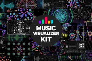 AE模板:动感绚丽VJ音乐屏幕视觉特效 Music Visualizer Kit