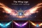 AE模板:大气粒子天使之翼 LOGO 标志片头展示 The Wing Logo