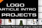 AE模板:8种粒子汇聚发散 LOGO 标志片头演绎 Logo Particle Intro (8in1)