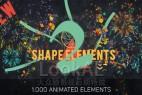 AE模板:第二季 1000种二维扁平化动态图形MG动画元素合集包