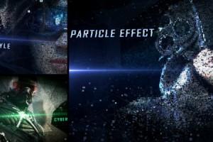 AE模板:大气震撼破碎粒子汇聚画面标题片头  Digital Form Intro