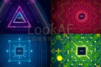 AE模板:4K炫酷动感VJ视觉舞台LED大屏幕背景LOGO循环动画效果